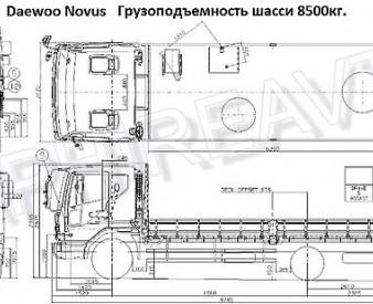 """Daewoo Novus , 2014 год . Фургон """"бабочка""""."""