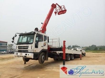 Эвакуатор-бортовой daewoo novus 11,5 тонн с КМУ HORYONG HRS 206