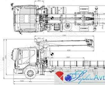Hyundai HD120 с краново-буровой установкой, 2014 год