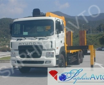 Hyundai HD250,15 тн, 2014 год. Эвакуатор с КМУ Soosan SCS746L .