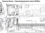 Daewoo Novus , 2014 год с КМУ Kanglim 2056 .