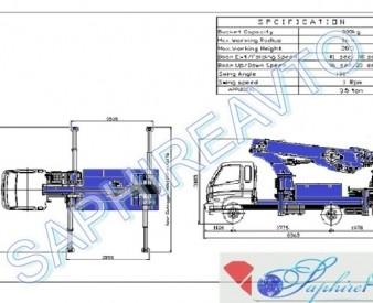 Аренда автовышки DASAN DS-280L на базе Hyundai HD 78 (28 м.)